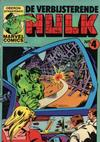 Cover for De verbijsterende Hulk (Oberon, 1979 series) #4
