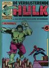 Cover for De verbijsterende Hulk (Oberon, 1979 series) #6