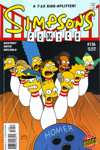 Cover for Simpsons Comics (Bongo, 1993 series) #136