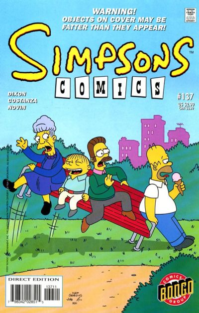 Cover for Simpsons Comics (Bongo, 1993 series) #137