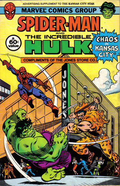 Cover for Spider-Man and the Incredible Hulk [Kansas City Star] (Marvel, 1982 series) #[nn]