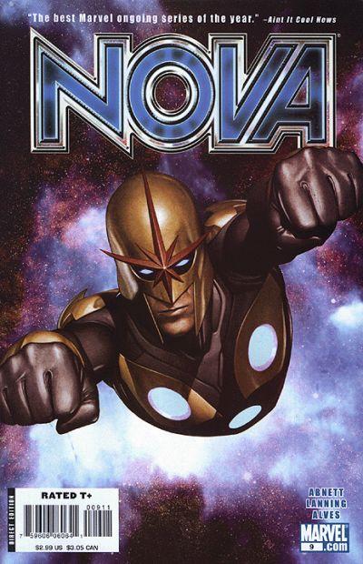 Cover for Nova (Marvel, 2007 series) #9