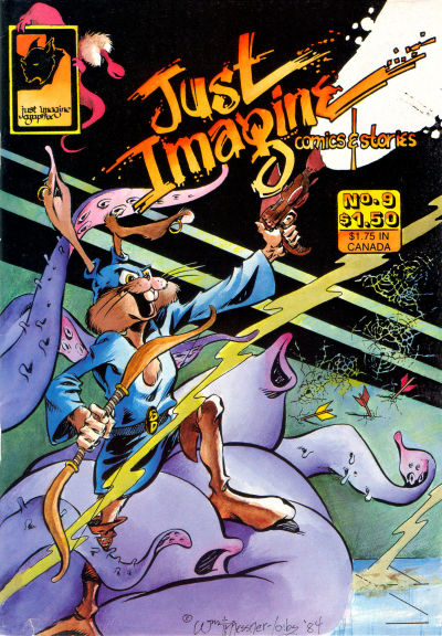 Cover for Just Imagine Comics and Stories (Just Imagine Graphix, 1982 series) #9