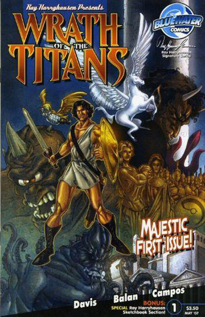 Cover for Wrath of the Titans (Bluewater Productions, 2007 series) #1 [Nadir Balan Cover A]