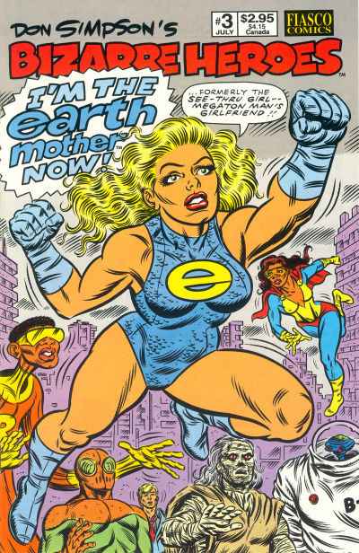 Cover for Don Simpson's Bizarre Heroes (Fiasco Comics, 1994 series) #3