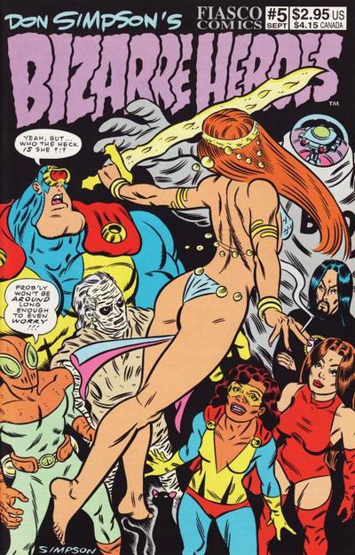 Cover for Don Simpson's Bizarre Heroes (Fiasco Comics, 1994 series) #5