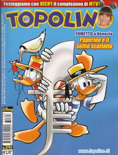 Cover for Topolino (The Walt Disney Company Italia, 1988 series) #2703