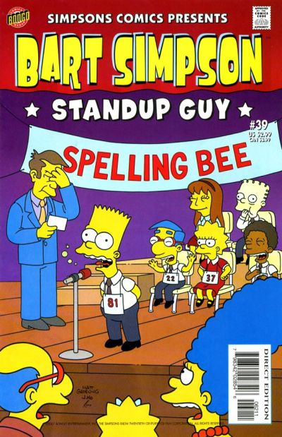 Cover for Simpsons Comics Presents Bart Simpson (Bongo, 2000 series) #39