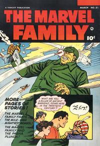 Cover Thumbnail for The Marvel Family (Fawcett, 1945 series) #81