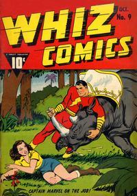 Cover Thumbnail for Whiz Comics (Fawcett, 1940 series) #9