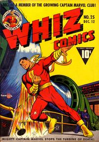 Cover for Whiz Comics (Fawcett, 1940 series) #25