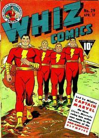 Cover for Whiz Comics (Fawcett, 1940 series) #29