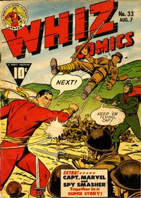 Cover Thumbnail for Whiz Comics (Fawcett, 1940 series) #33