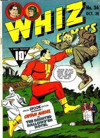 Cover Thumbnail for Whiz Comics (Fawcett, 1940 series) #36
