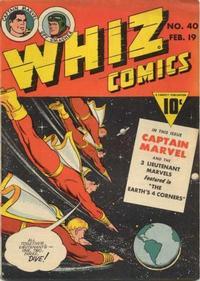 Cover Thumbnail for Whiz Comics (Fawcett, 1940 series) #40