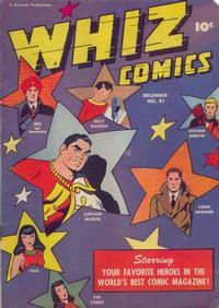 Cover Thumbnail for Whiz Comics (Fawcett, 1940 series) #81