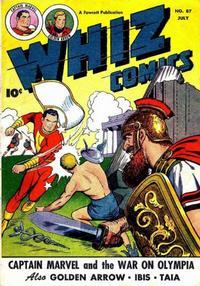 Cover Thumbnail for Whiz Comics (Fawcett, 1940 series) #87