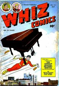 Cover for Whiz Comics (Fawcett, 1940 series) #111