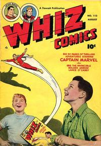 Cover Thumbnail for Whiz Comics (Fawcett, 1940 series) #112