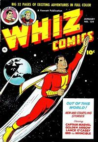 Cover Thumbnail for Whiz Comics (Fawcett, 1940 series) #129