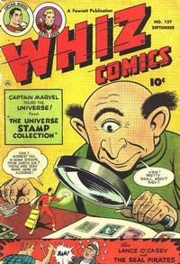 Cover Thumbnail for Whiz Comics (Fawcett, 1940 series) #137