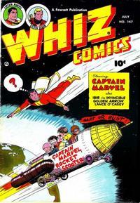 Cover Thumbnail for Whiz Comics (Fawcett, 1940 series) #147