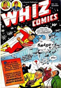 Cover Thumbnail for Whiz Comics (Fawcett, 1940 series) #152