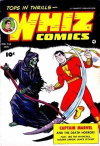 Cover Thumbnail for Whiz Comics (Fawcett, 1940 series) #153