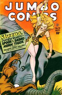 Cover Thumbnail for Jumbo Comics (Fiction House, 1938 series) #91