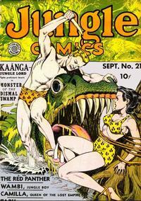 Cover Thumbnail for Jungle Comics (Fiction House, 1940 series) #21