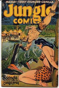 Cover Thumbnail for Jungle Comics (Fiction House, 1940 series) #71