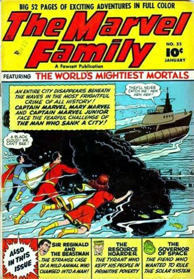 Cover for The Marvel Family (Fawcett, 1945 series) #55
