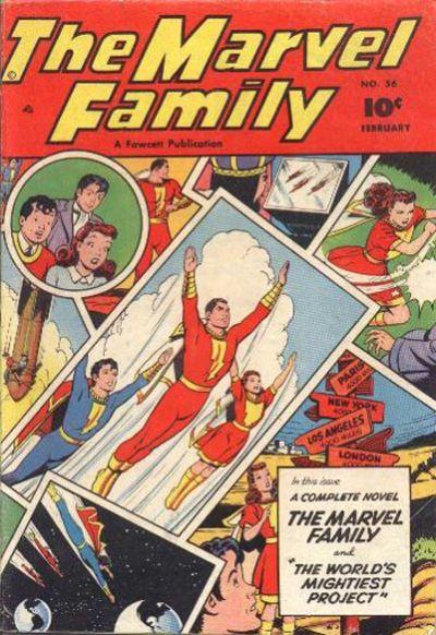 Cover for The Marvel Family (Fawcett, 1945 series) #56