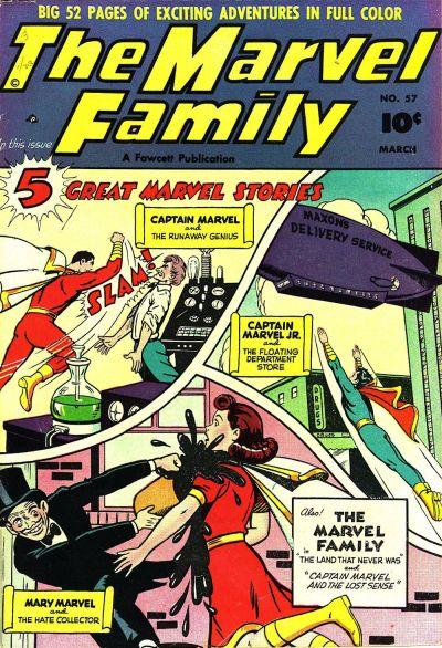 Cover for The Marvel Family (Fawcett, 1945 series) #57