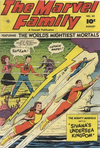 Cover for The Marvel Family (Fawcett, 1945 series) #62