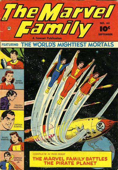Cover for The Marvel Family (Fawcett, 1945 series) #63
