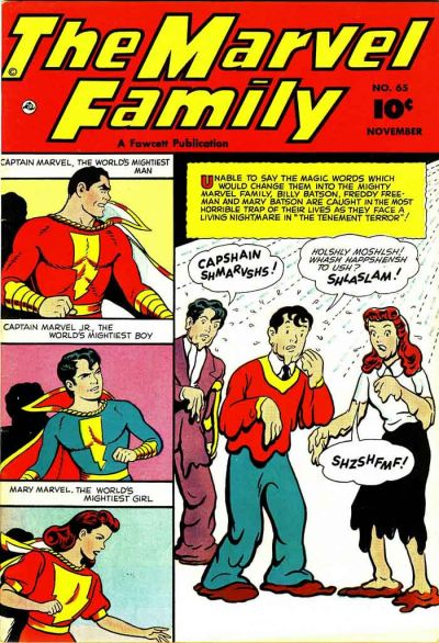 Cover for The Marvel Family (Fawcett, 1945 series) #65