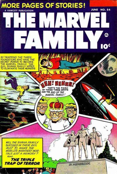Cover for The Marvel Family (Fawcett, 1945 series) #84