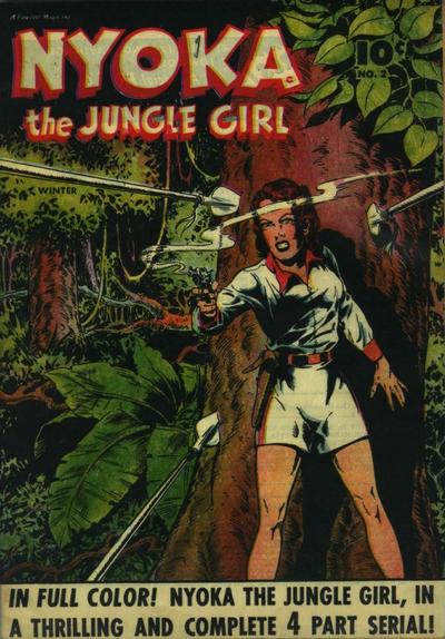 Cover for Nyoka the Jungle Girl (Fawcett, 1945 series) #2