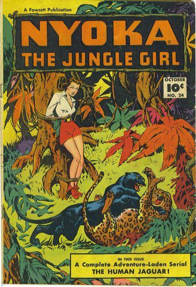 Cover for Nyoka the Jungle Girl (Fawcett, 1945 series) #24