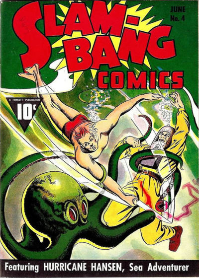 Cover for Slam-Bang Comics (Fawcett, 1940 series) #4