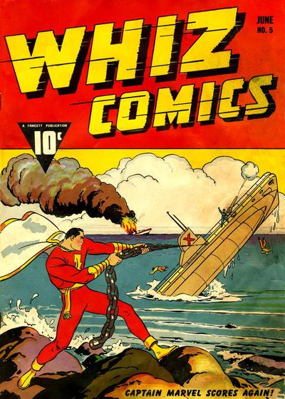 Cover for Whiz Comics (Fawcett, 1940 series) #5