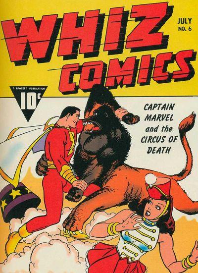 Cover for Whiz Comics (Fawcett, 1940 series) #6