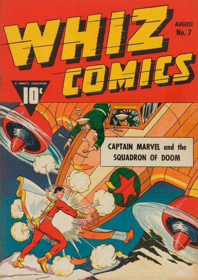 Cover for Whiz Comics (Fawcett, 1940 series) #7