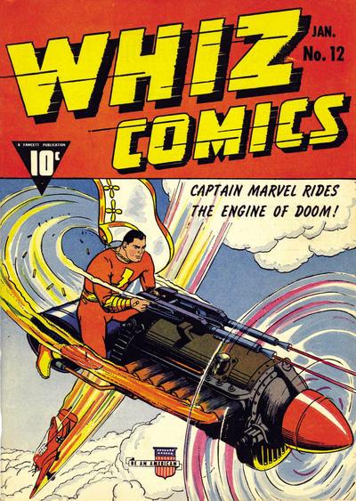 Cover for Whiz Comics (Fawcett, 1940 series) #12