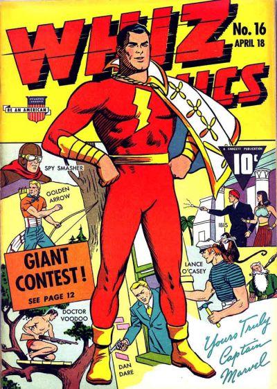 Cover for Whiz Comics (Fawcett, 1940 series) #16