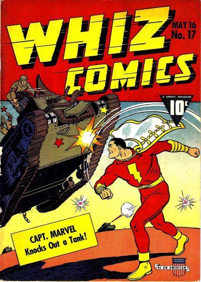 Cover for Whiz Comics (Fawcett, 1940 series) #17
