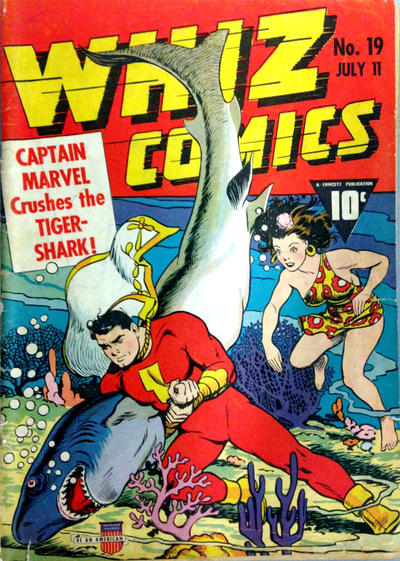 Cover for Whiz Comics (Fawcett, 1940 series) #19