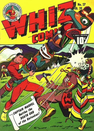 Cover for Whiz Comics (Fawcett, 1940 series) #27