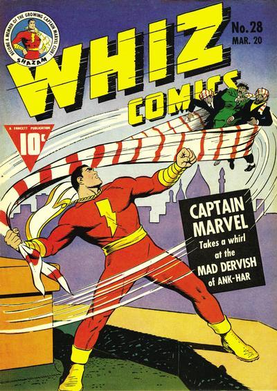 Cover for Whiz Comics (Fawcett, 1940 series) #28
